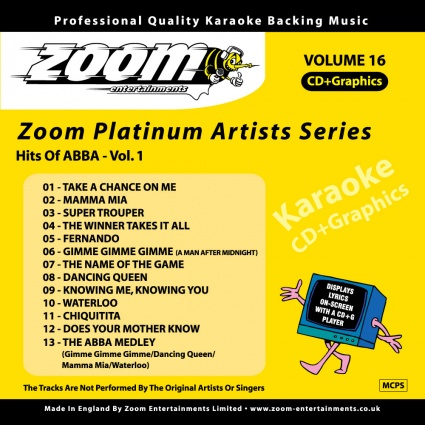 Zoom Platinum Artists - Volume 16 (Hits Of ABBA Vol.1)