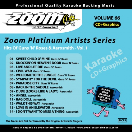 Zoom Platinum Artists - Volume 66 (Hits Of Guns 'N' Roses